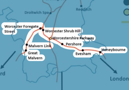 Cotswold-Line stations map
