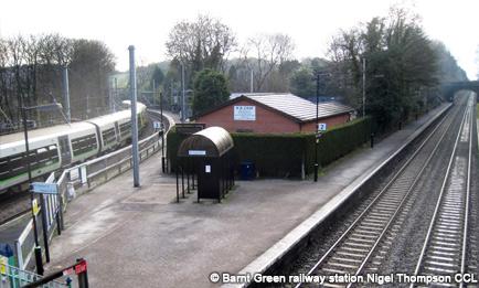 Barnt Green railway station by Nigel Thompson CCL
