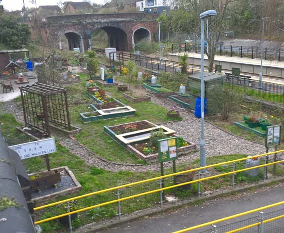 The community garden at the adopted station of Evesham