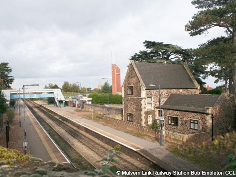 Malvern Link Railway Station Bob Embleton CCL