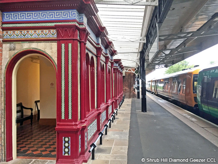Victorian waiting room on Platform 2B, recently restored
