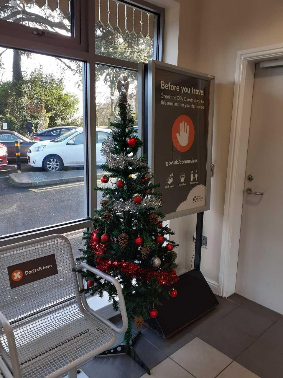 Christmas Tree at Malvern Link