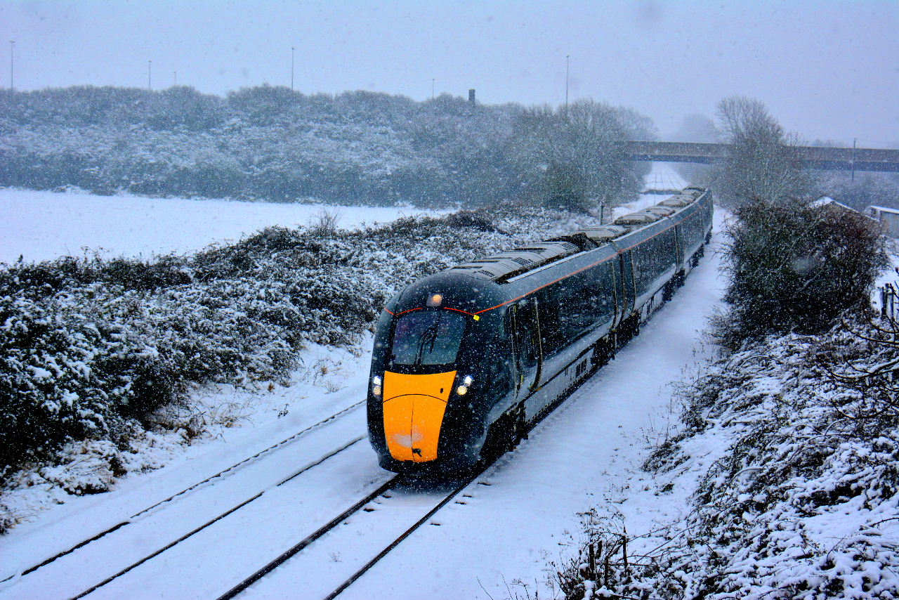 800009 Norton, Worcester { 5Z25 0854 STOKE GIFFORD IEP DEPOT to Hereford cancelled at Worcester SH } 101217 S Widdowson (2)