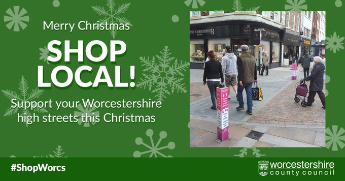 Worcestershire Shop Local Merry Christmas