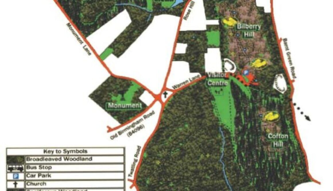 Lickey Hills Country Park map