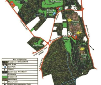 Lickey Hills map