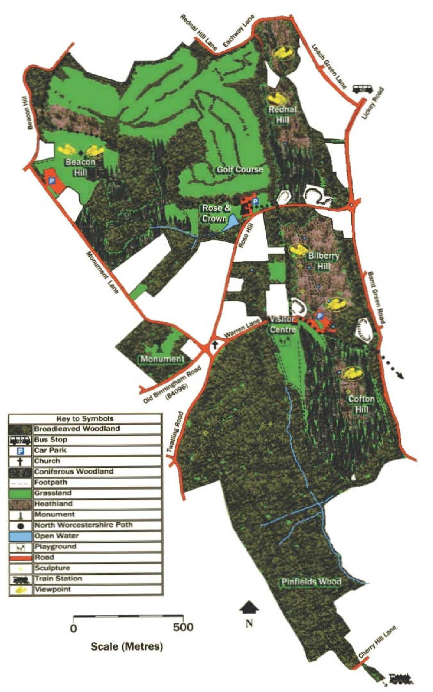 Lickey Hills map