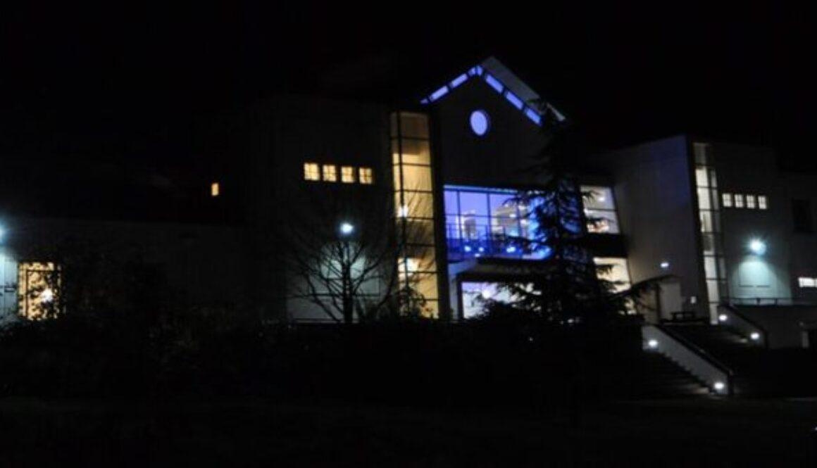 Malvern Theatre at night