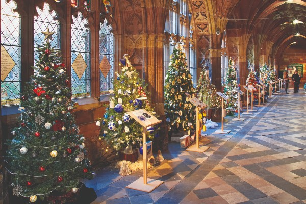 Christmas tree festival at Worcester Cathedral