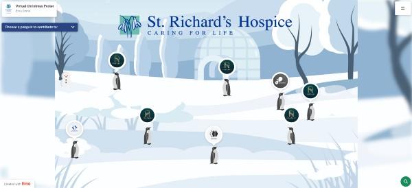 Penguin poster fundraiser St Richard's Hopsice