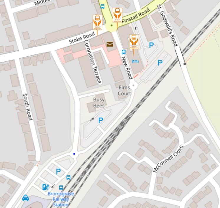 Bromsgrove Station Neighbours locations